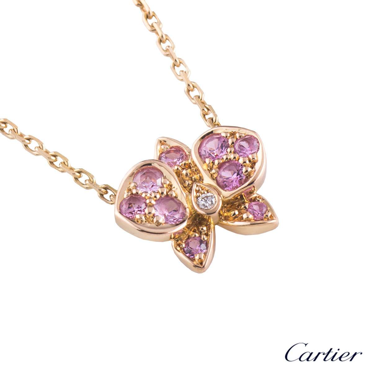 Cartier Rose Gold Caresse DOrchidées Necklace B7222900